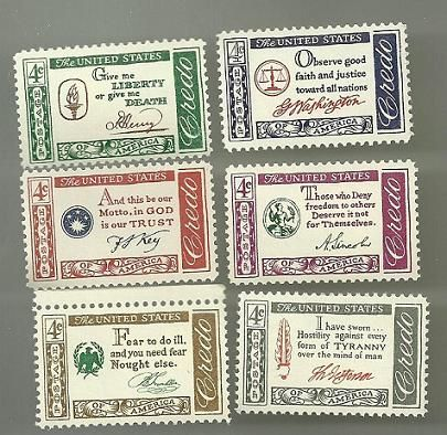 United States Commerative Single Stamp Sets 1960 61 Scott 1139 To 1144