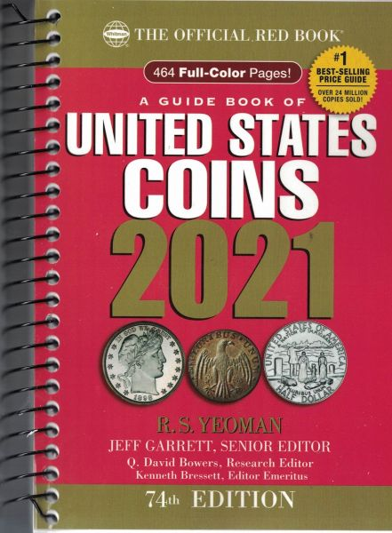 2020 Red Book Price Guide to U.S Coins Spiral Bound Yeoman 73rd Edition
