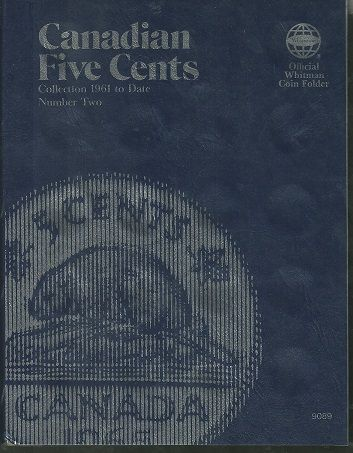 Whitman Folder # 9089 for Canadian 5 Cents from 1961-on