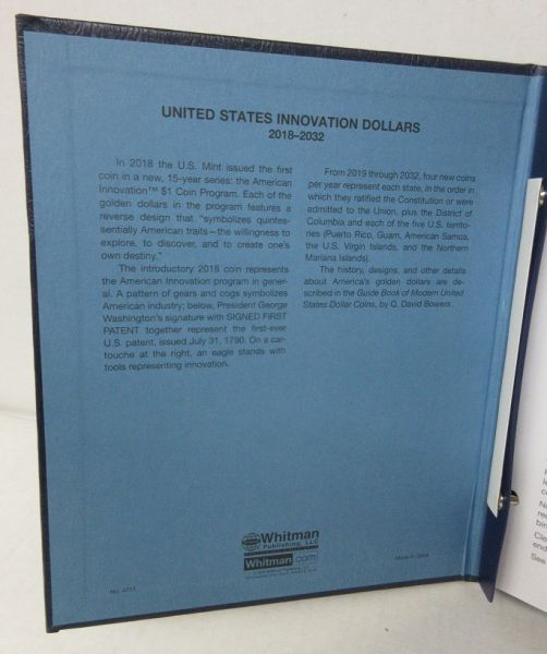 New United States Innovation Dollars 2018 - 2032 2 Page Whitman Classic  Album #4711