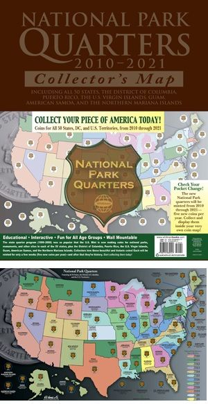 National Park Quarters - Traditional Collector Map 2010 - 2021