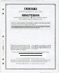 2018 Scott U S  Minuteman Stamp Supplement #50 -180S018