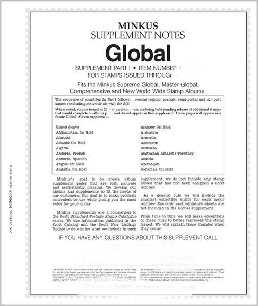 2014 Minkus Worldwide Global Stamp Supplement Part 1 & 2